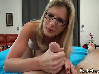 Blonde lass apropos glasses, Cory Chase spread her legs wide open and got fucked hard