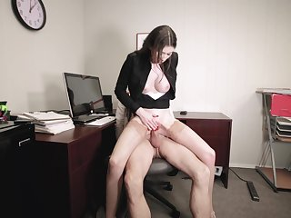 Office employee Angelina Diamanti gets it on with her hung boss