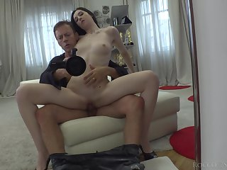 Poisonous Ukrainian hottie Meri Kriss  is fucked by hot blooded Rocco