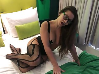Dani daniels in stockings fucking in cow position