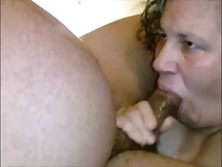 Big grandma sucking black dick and realize her mouth creampied be required of cum