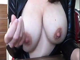Lactating girl teasing
