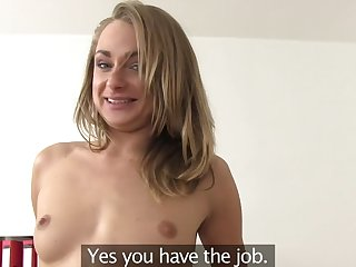 Nice fucking not later than a job interview with stunning Ivana Sugar