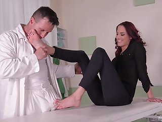 Serious foot fetish display leads this fit together to insane orgasms
