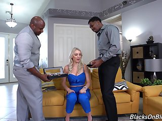 Black dudes fucks horny wife in such a in the same manner that she reaches multiple orgasms