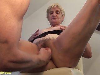 Extreme big cum load shot nigh grandmas eye