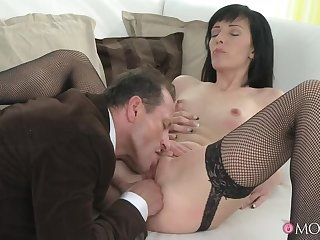 Woman In Black Has A Classy Affair Everywhere A New Dick