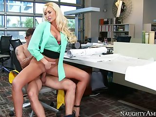 Summer Brielle fucking in the chairperson with her big knockers