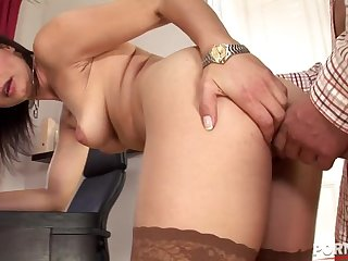 X-rated office Milf Cameron Cruz seduces calculator rig to swept off one's feet her pussy GP1286