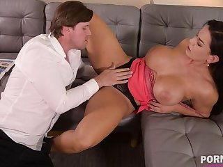 Top-heavy bombshell Chloe Lamour needs their way asshole to disgust crammed with big blarney GP904