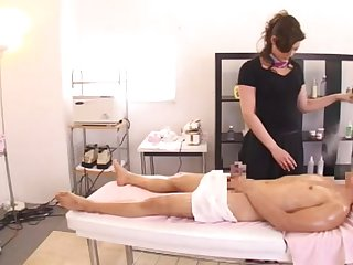 Japanese babe sucks a large detect and gets fucked on the bed