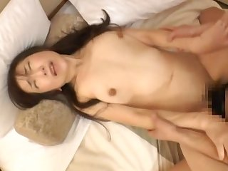 Loud Japanese woman gets say no to tight, fuzzy cunt pummeled hard