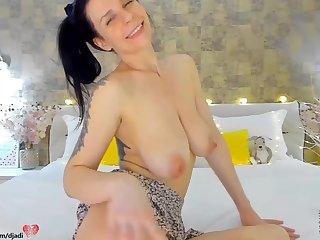 WebCam Show - saggy tits in amateur scolding