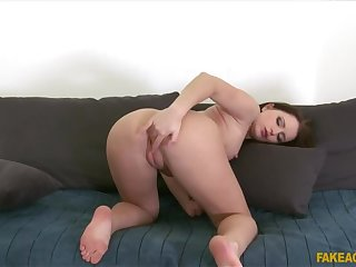 Sexy suntanned student fucked hard in casting
