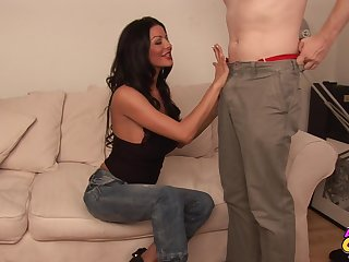 Sexy gloominess Tia Layne gives devotee with the addition of gets fucked balls deep
