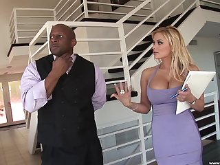 Cum adjacent to mouth increased by on tits after hardcore fucking with Shyla Stylez