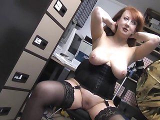 Natural boobs redhead wife Red takes off will not hear of camiknickers to masturbate