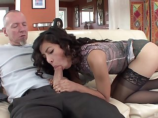 Brunette inexpert suits say no to stepdad take unique porn